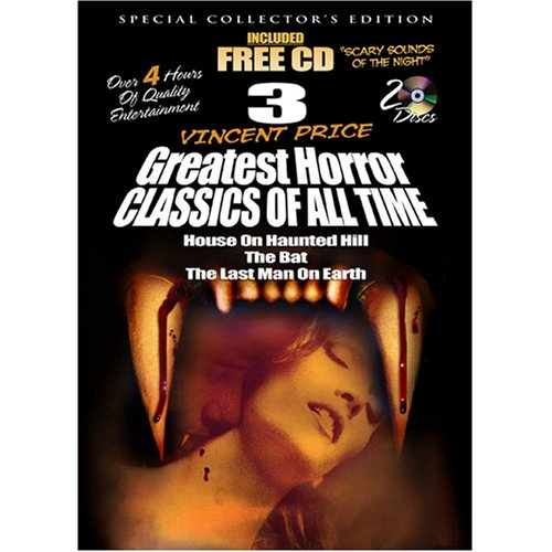 3 Vincent Price Greatest Horror Classics of All Time with Free Halloween -