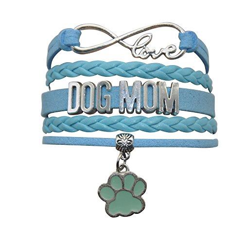 (HHHbeauty Dog Mom Paw Bracelet Jewelry - Pet Dog Memorial Paw Charm Bracelet for Women,Men,Girls,Boys,Dog Lovers Including Fantastics Infinity Love Charm, Paw Print Charm, Dog Charm)