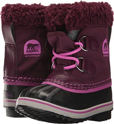 Sorel Girls' Childrens Yoot Pac Nylon, Purple Dahlia, Foxglove, 8 M US Little Kid (Sorel Kids Yoot Pac Boot)