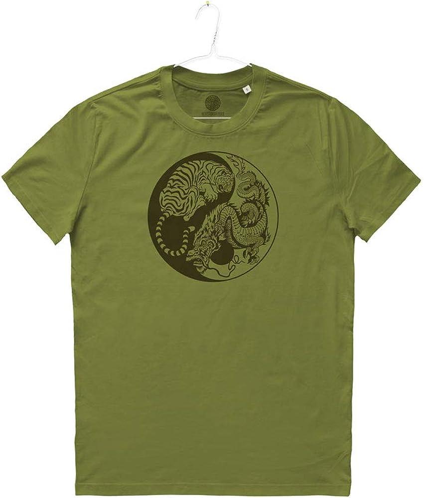 MIVESTONATURALE - Camiseta de Hombre Tai Chi de algodón orgánico ...