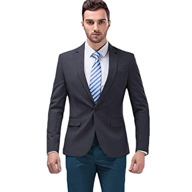 ad1bf449762 MAGE MALE Men's Solid Blazer Slim Fit Notch Lapel One Button Tuxedo Suit  Separate Jacket Coats