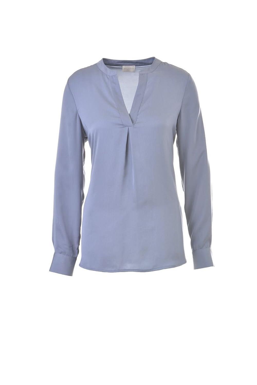 Milano Italy Damen Bluse Shirt blau langarm