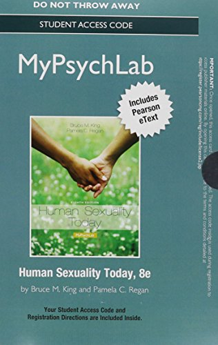 NEW MyLab Psychology with Pearson eText - Standalone Access Card - for Human Sexuality Today (8th Edition)