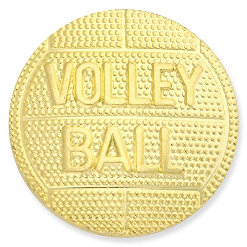Volleyball Gold Chenille Lapel Pin by JDS Industries