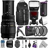 Sigma 70-300mm f 4-5.6 DG Macro Telephoto Zoom Lens for NIKON DSLR Camera w Complete Photo and Travel Bundle