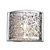 Yobo Lighting Fixtures Crystal Chrome Mini Wall Sconce Lighting ()
