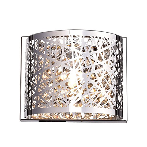 Lighting Fixtures Crystal Chrome Sconce