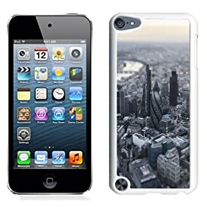Lovely and Durable Cell Phone Case Design with London Aerial Miniature View iPod Touch 5 Wallpaper in White