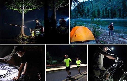 TOMOL 4-Pack LED Headlamp 3W Super Bright COB Flashlight for Running, Camping, Reading, Fishing, Hunting, Walking, Jogging - Headlamps Waterproof, Durable, Lightweight by TOMOL (Image #3)