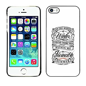 Planetar® ( Vintage Retro White Summer Inspiring ) iPhone 5 / 5S Fundas Cover Cubre Hard Case Cover