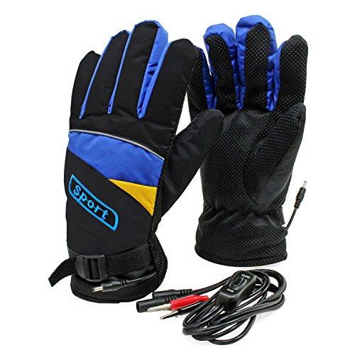 PsmGoods Motorbike Motorcycle Heated Gloves 12V Waterproof Antifreezing...
