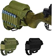 Tactical Buttstock for .308 - .300Winmag Adjustable Rifle Cheek Rest Pouch Holder (Army Green)