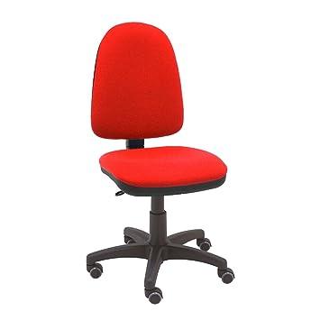 La Silla de Claudia - Silla giratoria de escritorio Torino rojo para oficinas y hogares ergonómica con ruedas de parquet