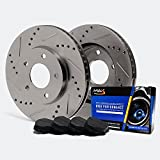 Front Premium Slotted & Drilled Rotors and Carbon Pads Brake Kit TA059231 | Fits: 2002 02 Ford Explorer 4WD Sport Models w/2.6 Overall Height