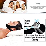Professional Anti Snore Stop Snoring CPAP Chin Strap by JERN (Adjustable Size) - 1 Pack