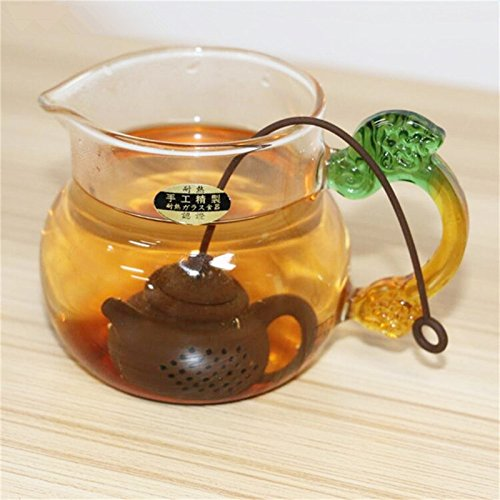 Funnytoday365 Creative Silicone Tea Bag Tea Pot Shape Tea Filter Safely Cleaning Infuser by FunnyToday365 (Image #2)