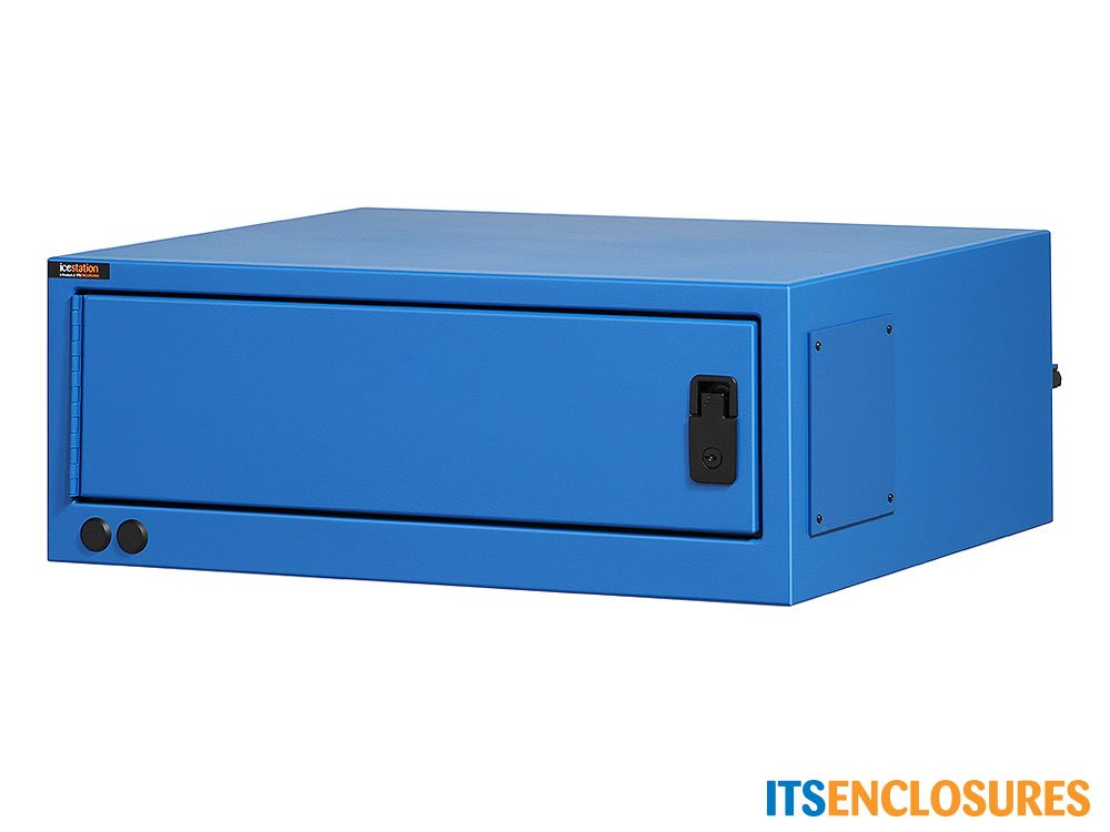 Heavy-Duty, NEMA 12 IceStation Computer Enclosure with Filtered Fan System, Power Cord, and 6 Outlet Surge Protector