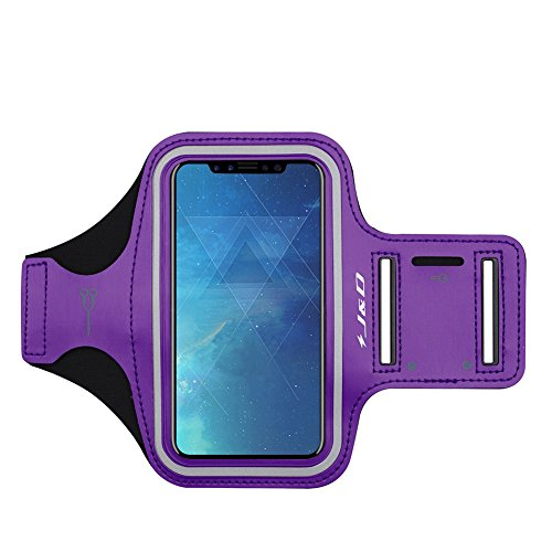 J&D Armband Compatible for iPhone Xs Armband/iPhone X Armband/iPhone XR Armband/iPhone 10 Armband, Sports Armband with Key Holder Slot for Apple iPhone XR Running Armband, Perfect Earphone Connection