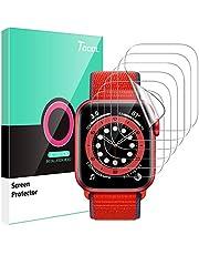 TOCOL 6 Pack Screen Protector Compatibel met Apple horloge Serie 6/5/4/SE 40mm HD Clear Krasbestendig Geen Bubbles Eenvoudige Installatie iwatch 40mm TPU Zachte Flexibele Film
