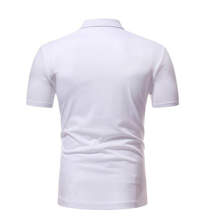 Manadlian Camisa Hombre Manga Corta, Camisa De Manga Corta para Hombre Moda Ajustado Camiseta Muscular Impresa Camiseta Hombre Casual Tops Blusa: Amazon.es: ...