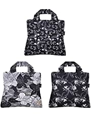 Envirosax A71868c Out of Out of Africa Reusable Shopping Bags, ((Set of 3), Floral Butterfly