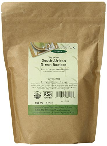Davidson's Tea Bulk, So African Green Rooibos, 1 Pound Bag