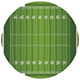 Round Rug Mat Carpet,Football,Sports Field in Green Gridiron Yard Competitive Games College Teamwork Superbowl,Green White,Flannel Microfiber Non-slip Soft Absorbent,for Kitchen Floor Bathroom