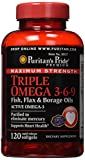 Puritan's Pride Maximum Strength Triple Omega 3-6-9 Fish, Flax & Borage Oils-120 Softgels Review