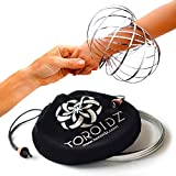 TOROIDZ  w/ Official Velvet Travel Bag - Amazing Magic Flow Toy - Interactive Museum - 3D ARM RING - Science, Circus , Festival, Physics stuff - All Ages Gift