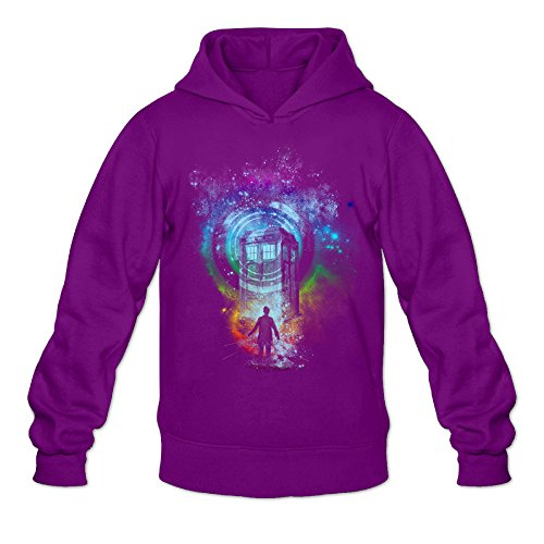 [Fennessy Men's Hoodie Next Doctor Who Before Tardis Size M Purple] (K-9 Doctor Who Dog Costume)