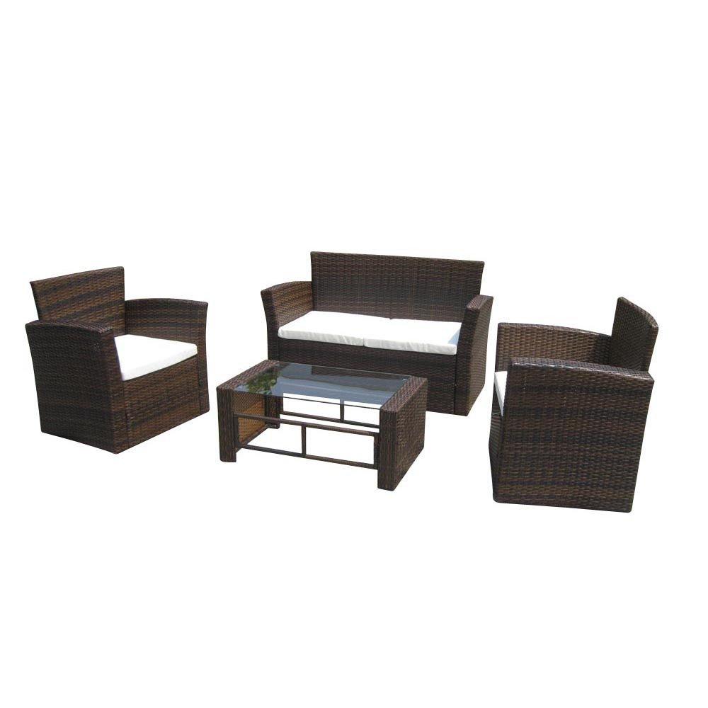 vidaXL Poly Rattan Lounge Gartenmöbel Set Braun günstig kaufen