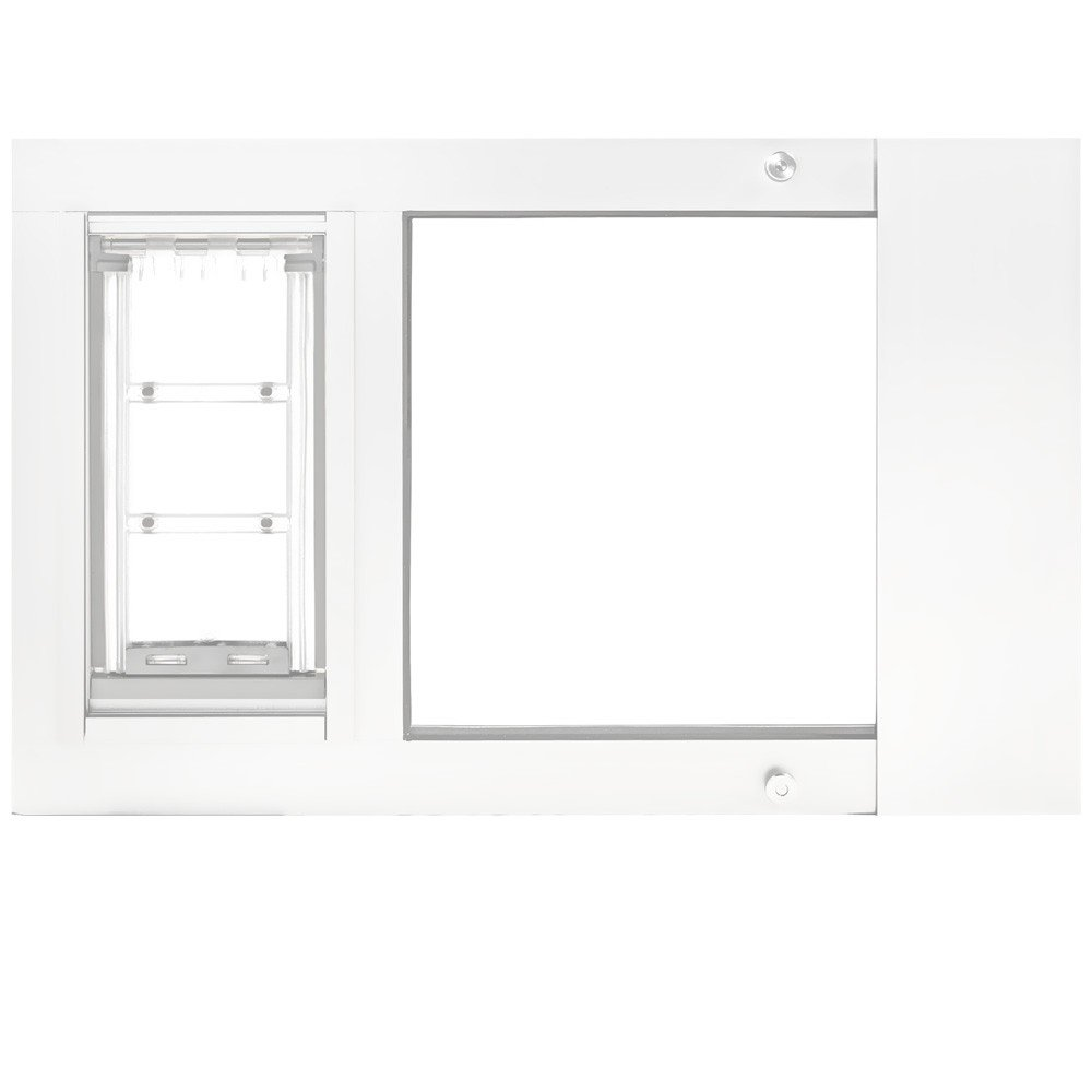 Endura Flap Pet Door Thermo Sash 2e with Sureflap Microchip White Frame (22''25'')