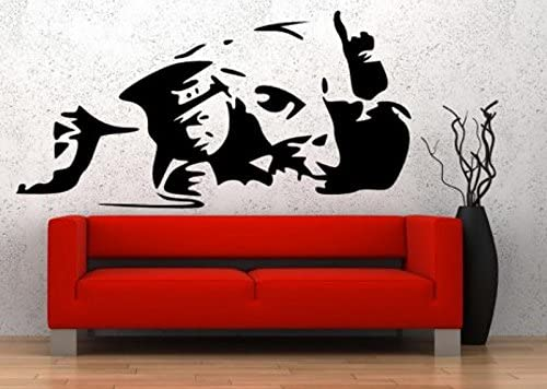 BANKSY STYLE COCAINE COP COPPER WALL STICKER DECALS VINYL