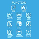 A&A Pedometer for Walking with LCD 3D Motion Sensor and Clip and Strap,Multi-Function Waterproof Fitness Step Tracker,Caloris Counter,Runing Exercise Accessories