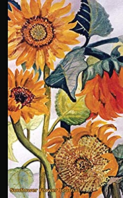 "Sunflower Flower Journal: Travel Writing DIY Diary Planner Note Book - Softcover, 100 Lined Pages + 8 Blank (54 Sheets), Small Lightweight 5x8"" (Floral Gardener Gifts)"