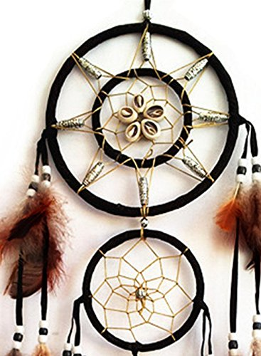 Jual wall decor dream catcher : Handmade dream catcher with feathers wall hanging home