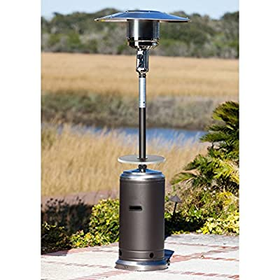 Fire Sense Standard Series Patio Heater with Adjustable Table-p