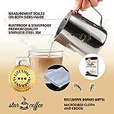 Star Coffee 30, 20 or 12oz Stainless Steel Milk