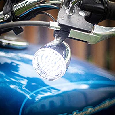 Eagle Lights LED Generation II Turn Signals with White Running Lights (Front (1157) and Rear Amber (1156) LED Turn Signal Kit, Add Smoked Lenses) for Harley Davidson: Automotive