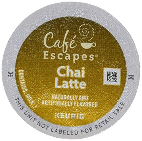 Price comparison product image Café Escapes Keurig Single-Serve K-Cup Pods,  Chai Latte,  24 Count