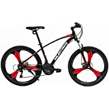 "Uenjoy Murtisol Mountain Bike Men's and Women's Bike Speed Fast Lightning 26"" 21 Speed Hardtail Hybrid Bicycle Mag Wheel Commuter Bike in 3 Color"