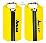 Z-Ray Lightweight Heavy Duty Waterproof 20L Dry Bag - for camping, boating, swimming (2 pk)