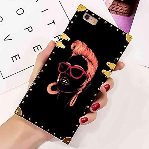 Illians Square Case Cover Fit iPhone 6 Plus, 6s Plus (5.5-Inch) Vogue Fashion Girl Hot