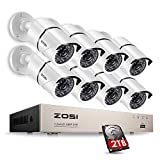 ZOSI 8CH FULL 1080P HD-TVI Video Security System DVR Recorder with 8 Weatherproof