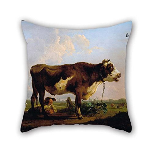 beeyoo Pillow Covers of Oil Painting Ommeganck, Balthazar Paul - A Bull 20 X 20 Inches / 50 by 50 cm Best Fit for Home Theater Dance Room Teens Teens Dining Room Twice Sides - Balthazar Dining Set