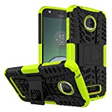 Moto Z Play Case, Moto Z Play Droid Case,Moment Dextrad [Built-in Kickstand] [Non-slip] [Dual Layer] [Shock Proof] [Scratch/Dust Proof] (Moto Z Play Hybrid Full-body case) (Greenyellow)