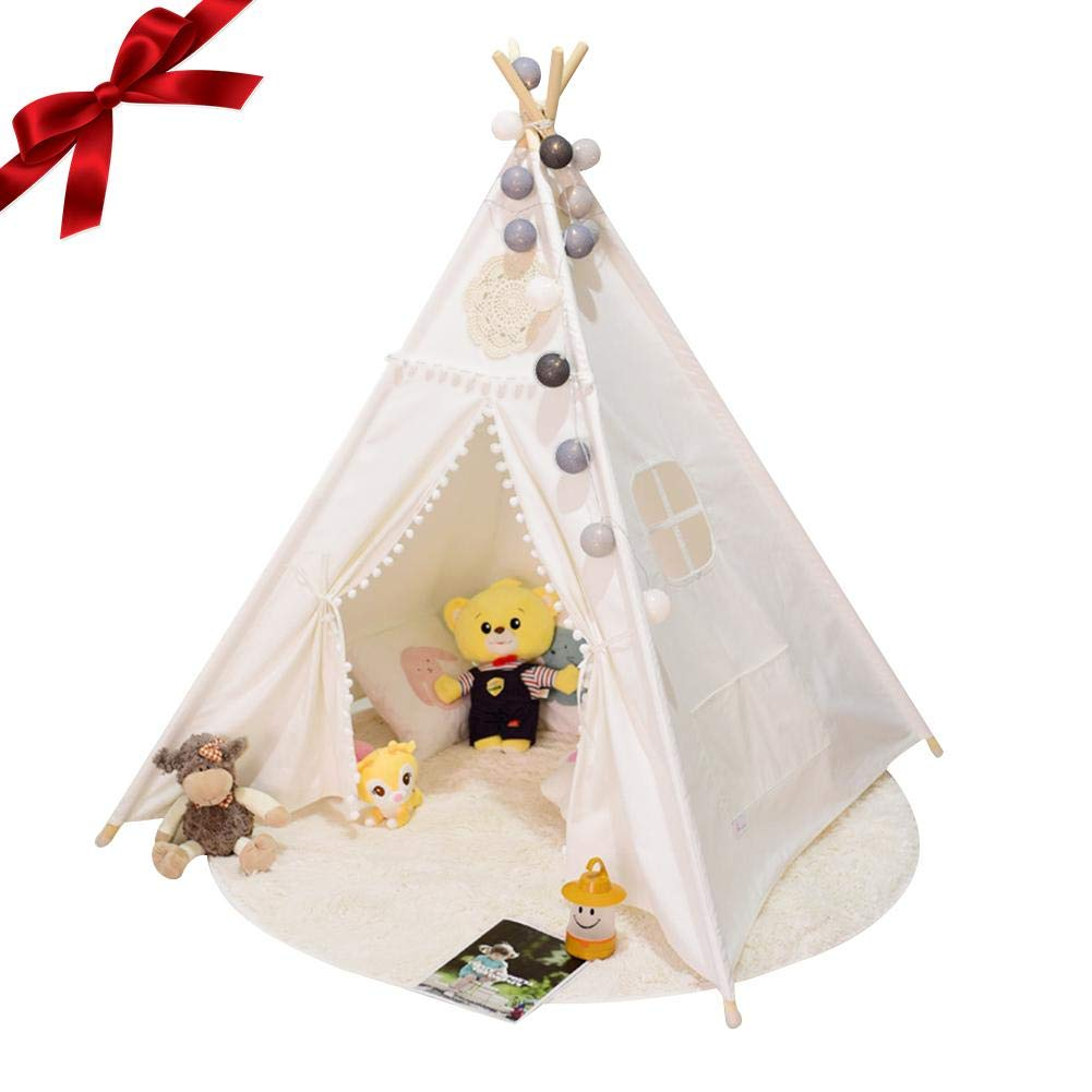 Sundlight 子供用テント インディアンティーピーテント 子供用ゲーム 睡眠 プレイハウス テント 屋内 屋外用 (枕なし) B07KM2FN1P