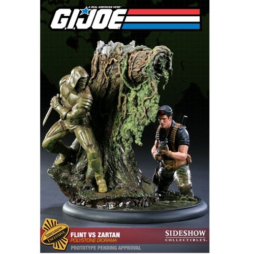 Polystone Diorama - Flint vs Zartan GI Joe Sideshow Collectibles Exclusive Polystone Diorama