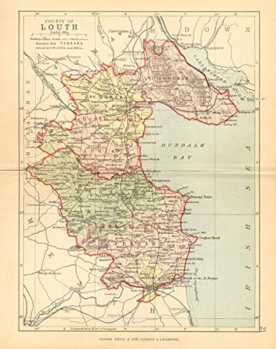 Map Of Ireland Leinster.Amazon Com County Louth Antique County Map Leinster Ireland