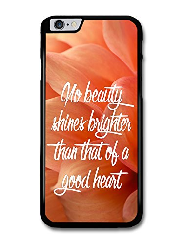 No Beauty Shines Brighter Life Inspirational Quote Cute Flower Background coque pour iPhone 6 Plus 6S Plus